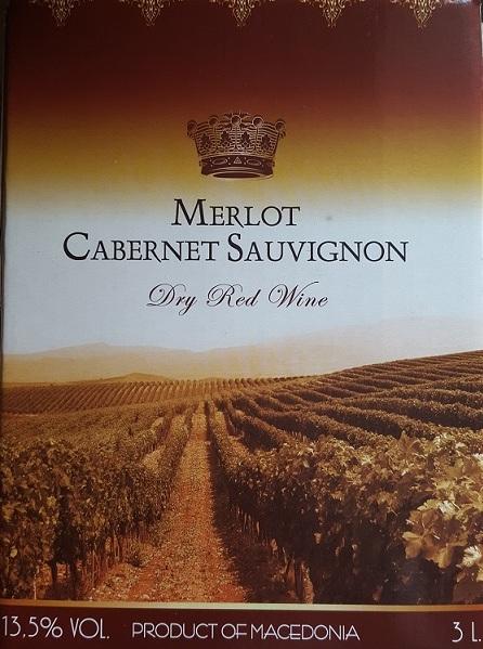 Merlot-Cabernet Sauvignon  (raudonas, sausas)